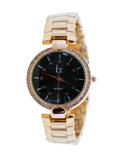 Rose gold bracelet watch for women.