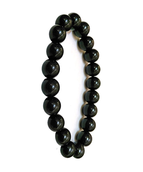 Black bracelets for ladies girls beaded.