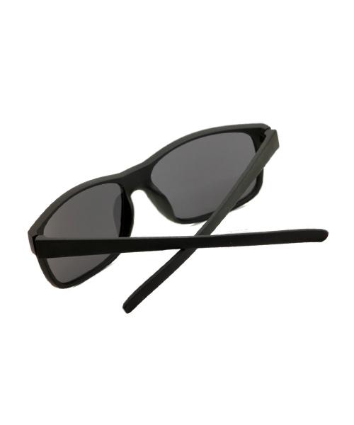 Classic rectangular mens black sunglasses.