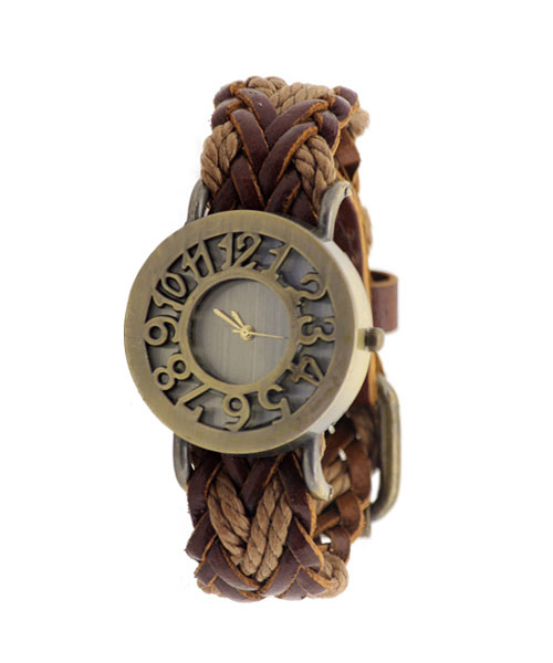 Vintage Bronze Wrist Watch for Girls Women.