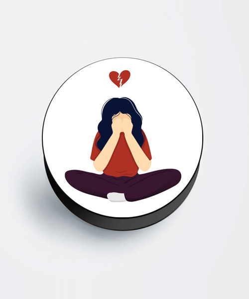 Broken heart mobile popsocket for girls.