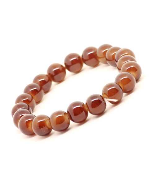 Brown glass bead wrist band bracelet for girls.