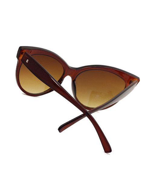 Cateye brown lens classic sunglasses for women.