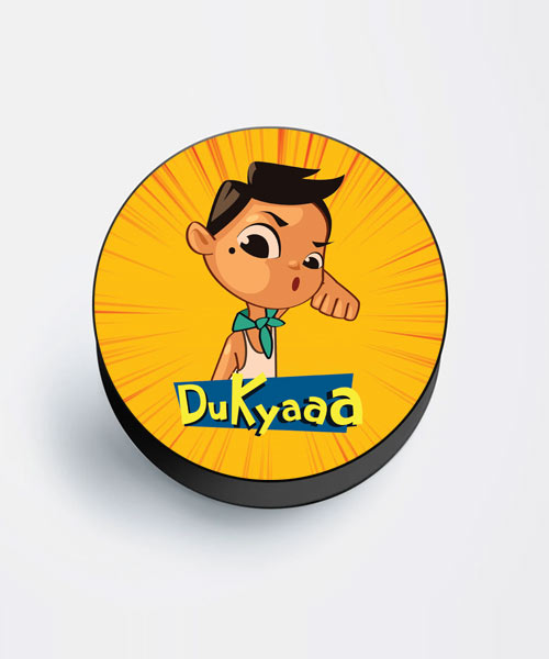 Cartoon Kickass Dukyaa Mobile Popsocket