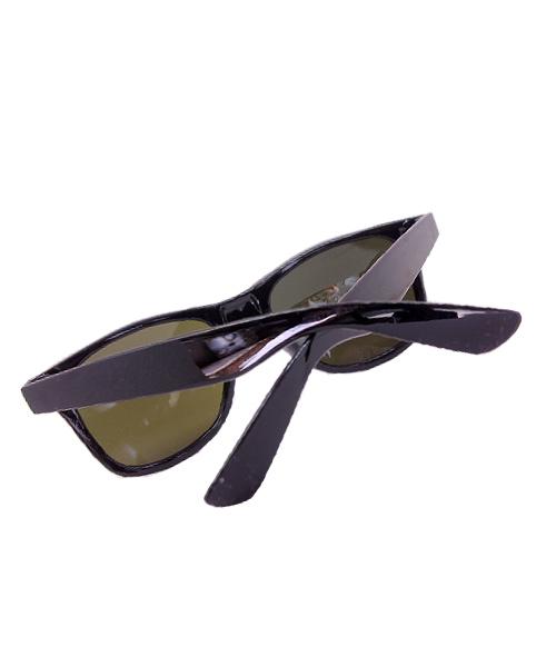 Mens blue mirrored Wayfarer sunglasses.