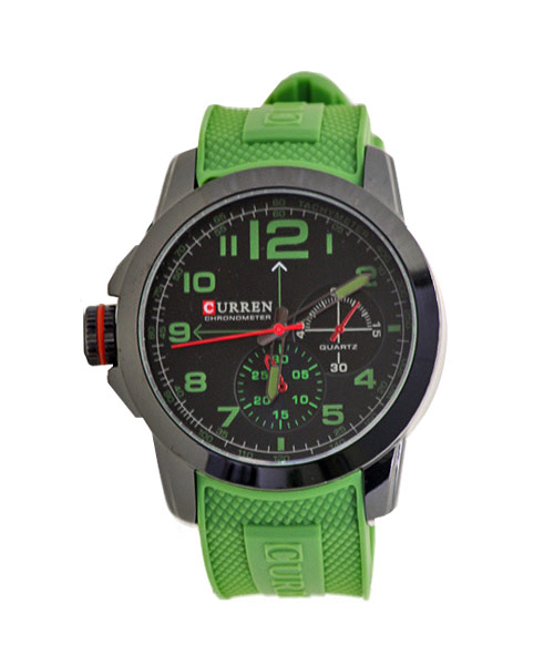 8182A Curren green strap sports watch.