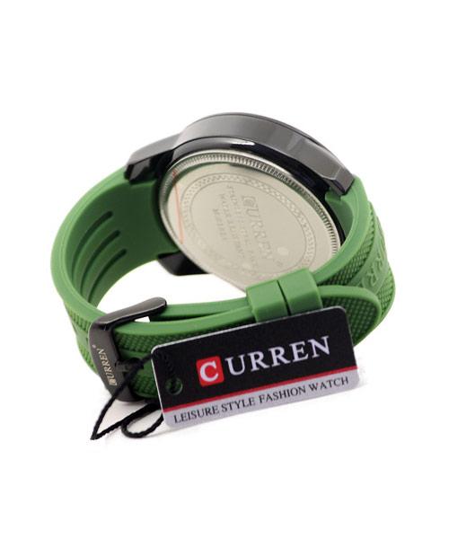 8182A Curren green strap sports watch.