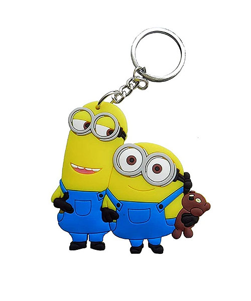Despicable Me Minion Double Sided Keyring Key Chain.