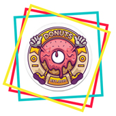 Donut Fridge Magnet