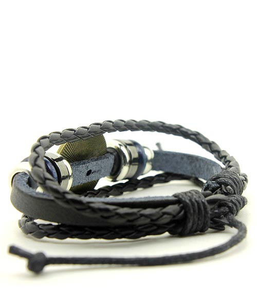 Blue evil eye multi-strand girls bracelet.