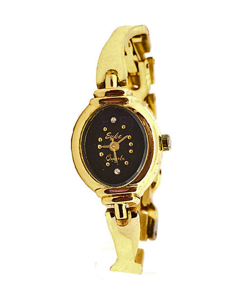 Slim gold watch for young ladies.