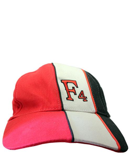 F4 three coloured baseball cap.
