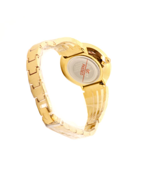Fitron classic gold watch for women, ladies and girls.