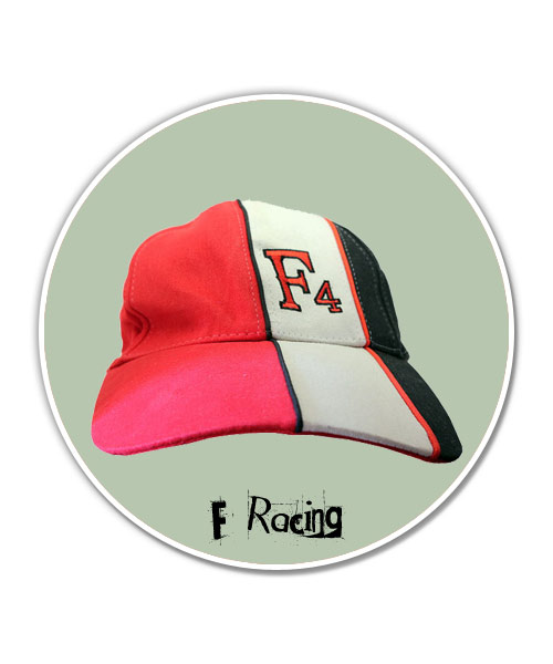 F4 three coloured baseball cap.