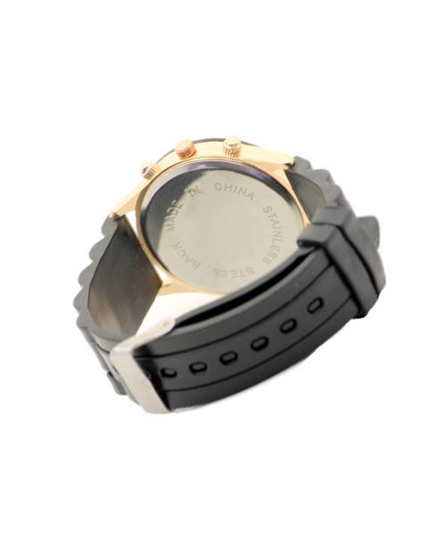 Womens silicone watches rose gold case.
