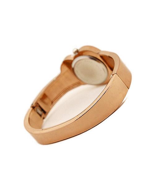 Heart Shaped Rose Gold Bracelet Watch.