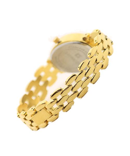 Diamond studded gold wrist watch for girls.