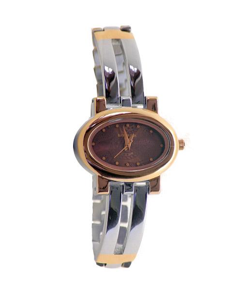 Oval rose gold silver wrist watch for girls women.