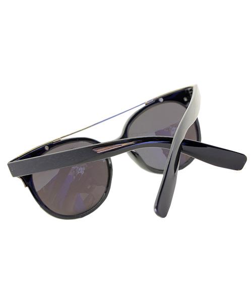 Gold black oval womens sunglasses.