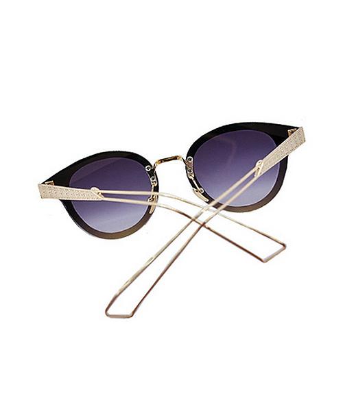 Golden rim clubmaster womens sunglasses.