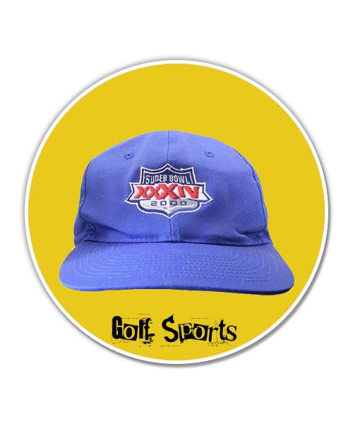 Super bowl blue unisex cap.