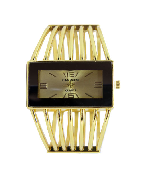 Gold kada rectangle designer womens watch.