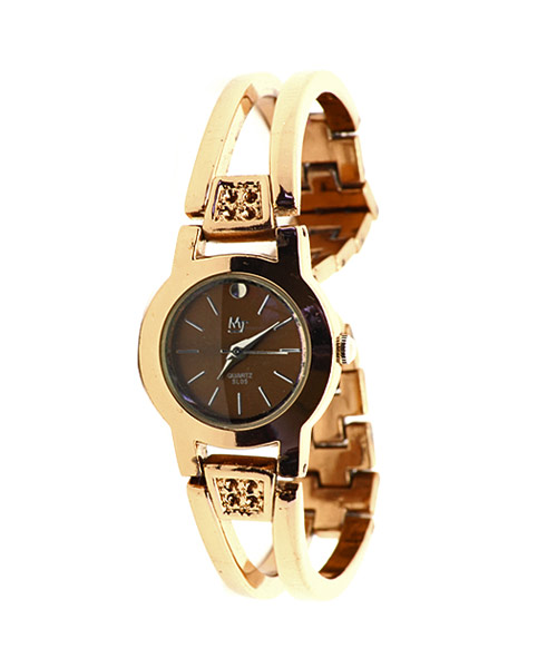 Glossy copper finish ladies watch.
