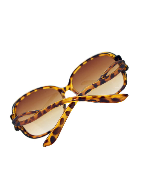 Leopard print butterfly sunglasses.
