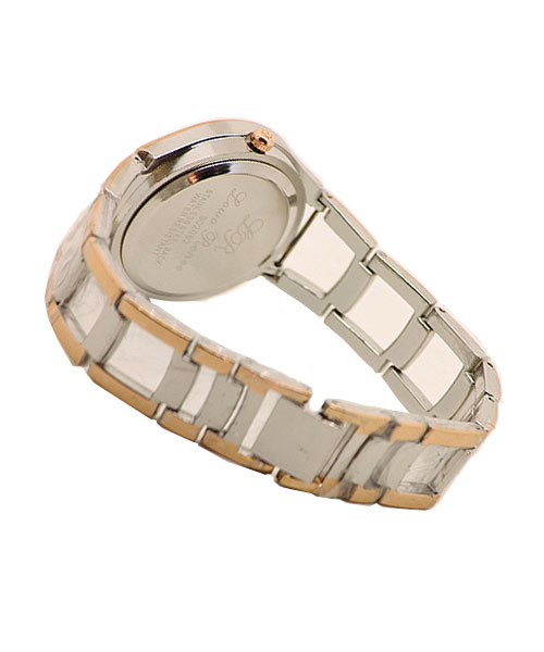 Sophisticated girls wrist watch rose gold and silver.