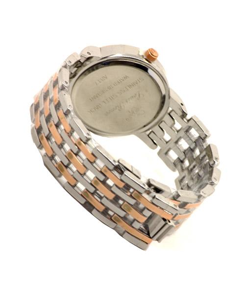 Steel rose gold women's watch.