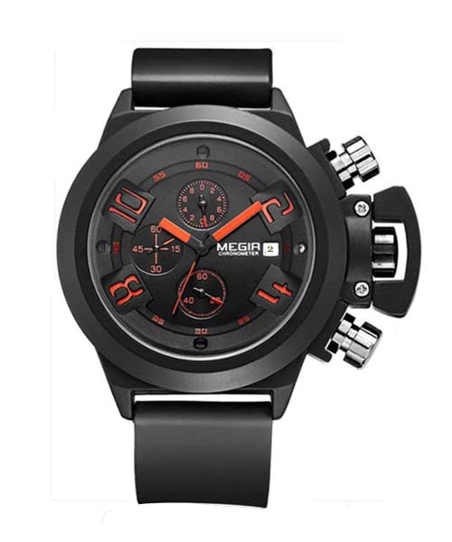Megir MN2002G Mens Calendar Business Watch.