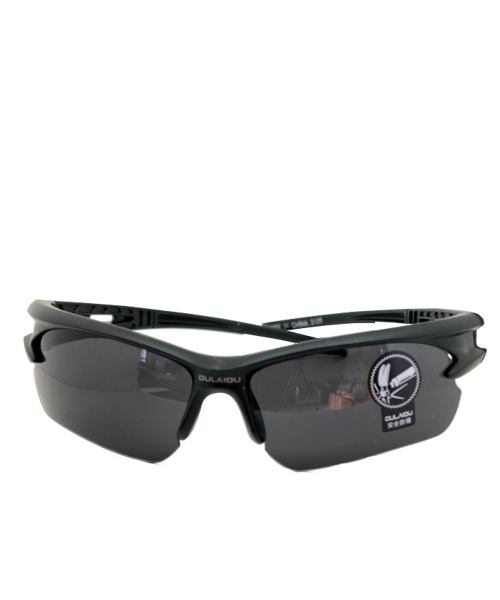 Half rim mens sunglasses black.