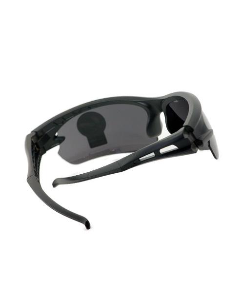 Half rim mens sunglasses black.