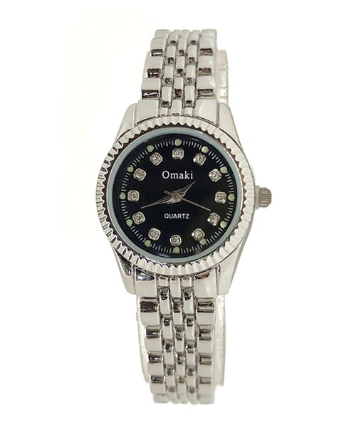 Omaki versatile classy all silver wrist watch for girls and women.