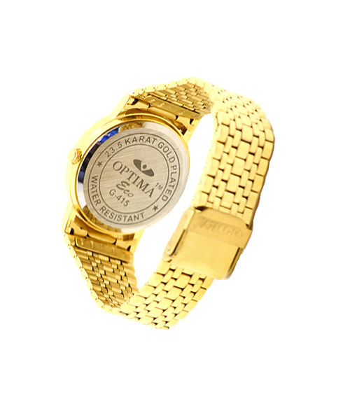 Round classic gold mens watch.