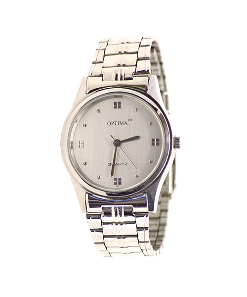 Round elegant silver men's watch.
