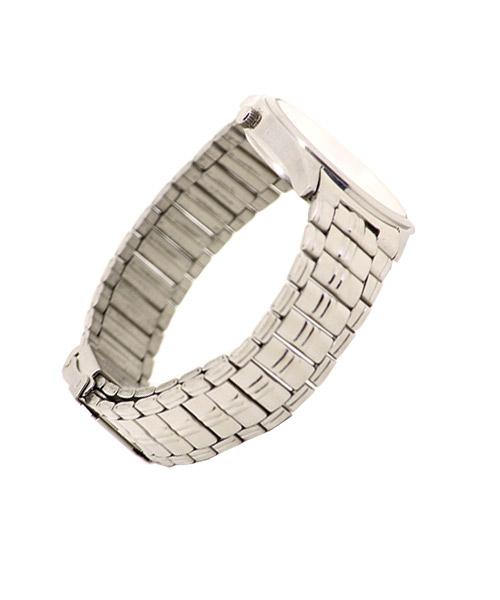 Round elegant silver men's watch.