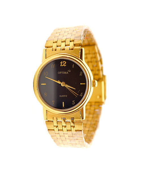 Round gold mens watch.
