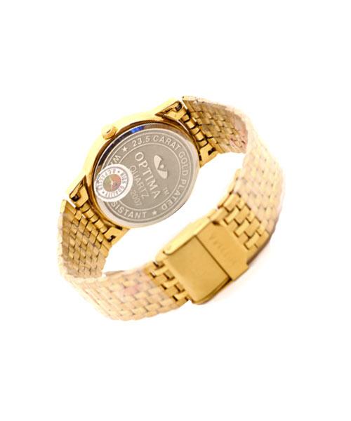 Round gold mens watch.