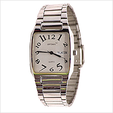 Optima Tonneau Day Date Mens Watch