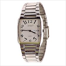 Optima Tonneau Day Date Mens Watch