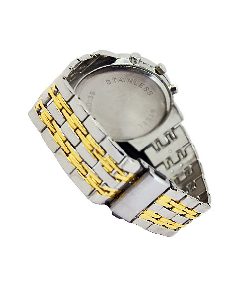 Orlando mens gold silver watch.