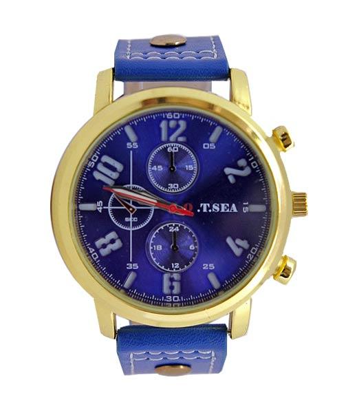 4077 Otsea blue strap gold case mens watch.