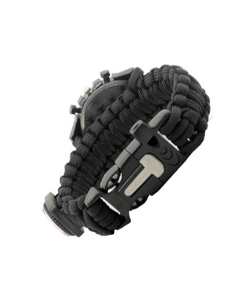 Paracord Survival Watch Bracelet With Compass.