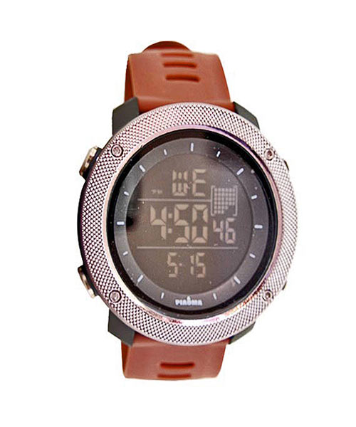 Piaoma silver sports digital watch.