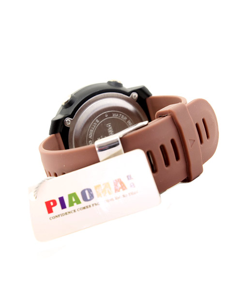 Piaoma silver sports digital watch.