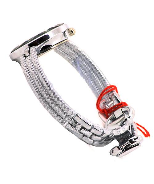 Silver bracelet watch.