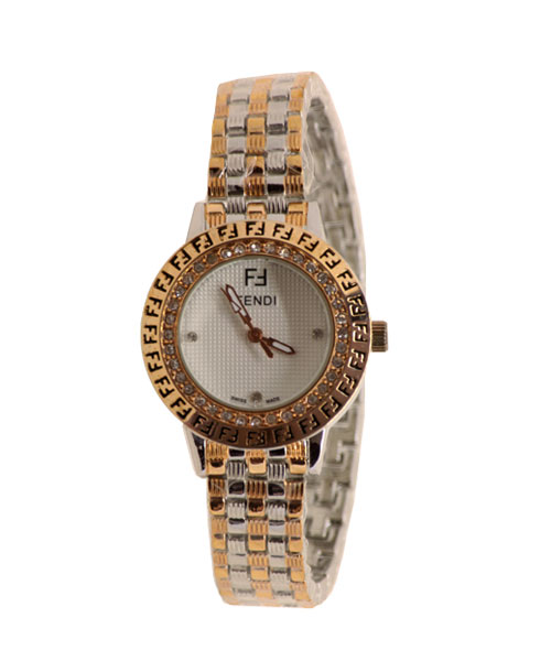Regal charming rose Gold and silver girls women's quartz wrist watch.