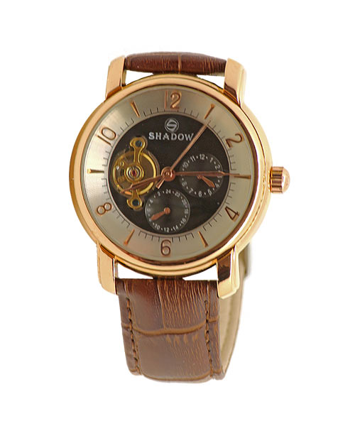 Shadow brand automatic mechanical mens watch.