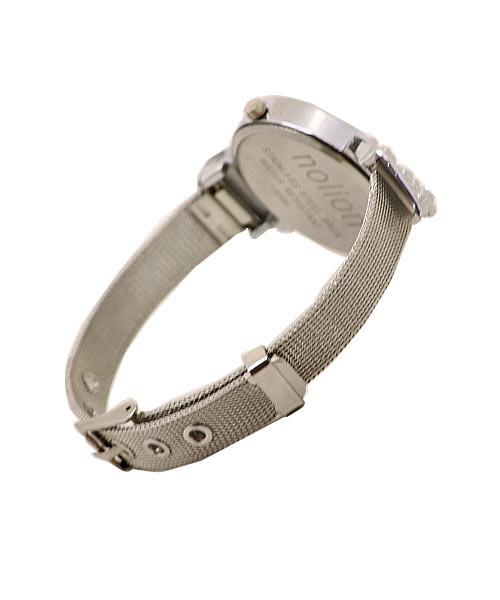 Stylish designer silver oval wrist watch for girls women.